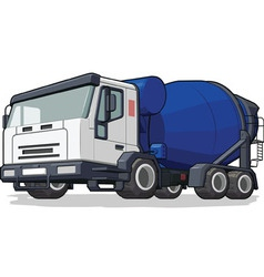 Cement Mixer Truck vector