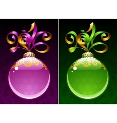 Christmas and New Year circle frame vector image