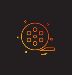 cinema film movie reel vector image