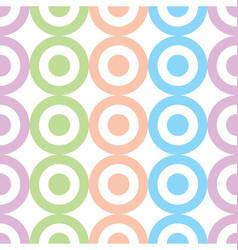 circles and dots pastel colors seamless pattern vector image