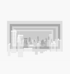 city modern contour landscape several plans form vector image
