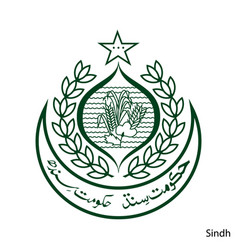 Coat arms sindh is a pakistan region emblem vector