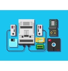 Computer game items and elements vector image