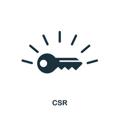 Csr icon monochrome style design from business vector