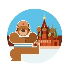 Dancing russian bear vector