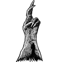 dark hand vector image