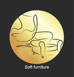 Design for upholstered furniture vector image