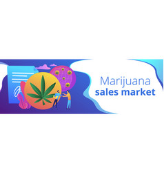 distribution of hemp products concept banner vector image