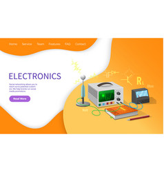 electronics lessons discipline school university vector image