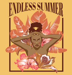 Endless summer hand drawn of vector
