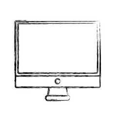 figure electronic computer screen technology icon vector image