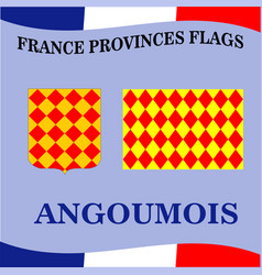 Flag of french province angoumois vector