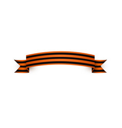 Flat george ribbon victory day icon vector