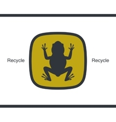 Flat icon amphibian Frog Card vector