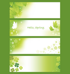 four abstract springtime background vector image