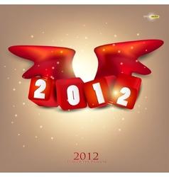 greeting card 2012 year of dragon vector image