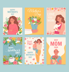 happy mothers day card best mom ever flower vector image