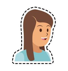 happy woman icon image vector image