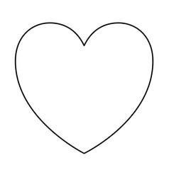 Heart icon in monochrome silhouette vector