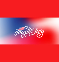 independence day usa banner template gradient vector image