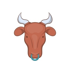 Indian cow icon in cartoon style vector