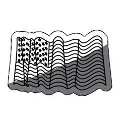 Isolated Usa flag design vector