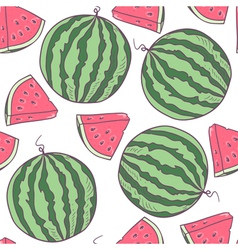 Juicy watermelon seamless pattern vector image
