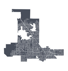 Las vegas map detailed map las vegas city vector