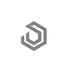 letter d o modern vector image