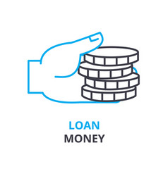 loan money concept outline icon linear sign vector image
