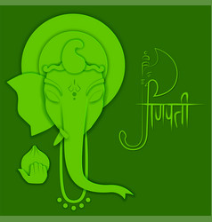 Lord ganpati background for ganesh chaturthi with vector
