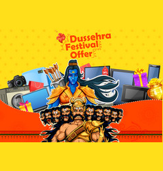 lord rama and ravana for happy dussehra sale vector image
