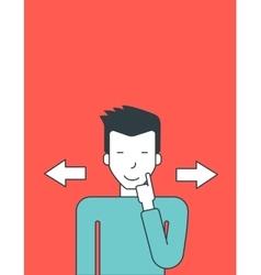 Man choosing way vector image