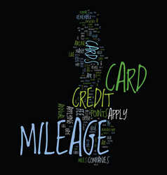 mileage credit card tips for how to apply text vector image
