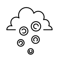 money rain sign icon currency business symbol flat vector image
