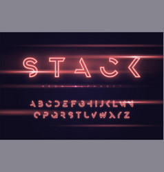 neon futuristic display typeface font vector image
