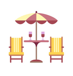 Patio table flat icon vector