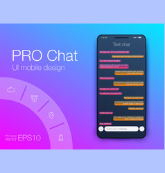 phone chat interface sms messages stock vector image