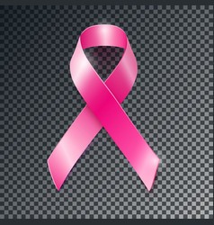 pink ribbon breast cancer awareness symboll vector image