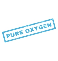 Pure Oxygen Rubber Stamp vector