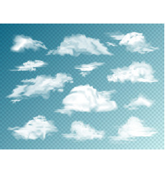 realistic clouds set isolated cloud vector image