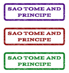 sao tome and principe watermark stamp vector image