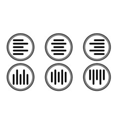 Set icons horizontal and vertical alignment align vector