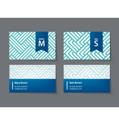 set of modern business cards vector image