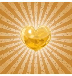 Shining lava heart vector