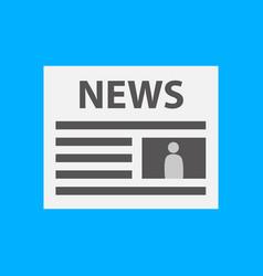 Simple newspaper symbol vector