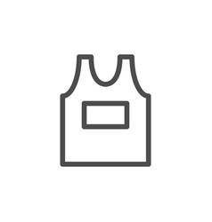Singlet line icon vector