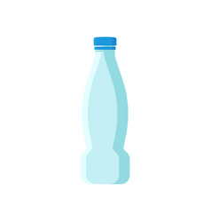 Small plastic bottle for mineral water vector