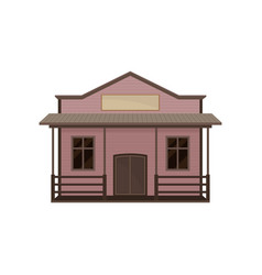 small western house with porch and blank signboard vector image