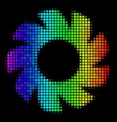 Spectral colored dot turbine icon vector